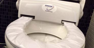 foto de assento higiênico descartável da Sanicom